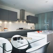 white kitchen with island modern and minimalist kitchen with island bar and white stool
