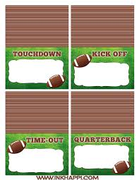 Football Free Printables For The Food Table And More Inkhappi