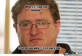 Gabe Newell Memes - gabe newell 3 impossibruu by pauljohnson meme center