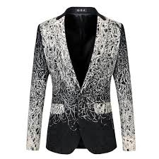 unique mens 2018 wholesale blazer men luxury brand mens floral blazer costume