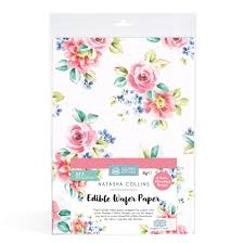 Edible Cake Decorating Paper Sk Edible Wafer Paper By Natasha Collins Big Blooms Squires