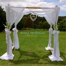 wedding arches bamboo melbourne wedding ceremony hire products