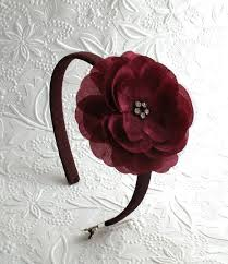 burgundy headband burgundy flower headband flower girl headband thanksgiving