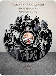 amazon com disney villains vinyl clock vinyl wall clock vinyl