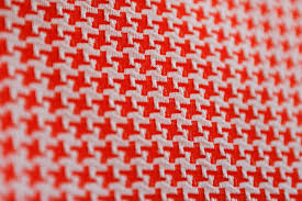 Houndstooth Home Decor by Bright Bold Orange 70 U0027s Vintage Raised Houndstooth Or Crowfoot