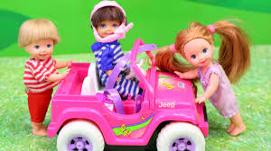vintage barbie jeep barbie power wheels car play frozen kids play at kelly playground