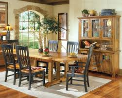 Oak Dining Room Table Sets Solid Oak Dining Set Rustic Mission Inrm44108set