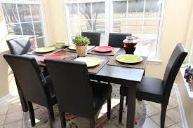 White And Wood Kitchen Table by White Wood Dining Set With Black Wooden Table Chairs And Colorful