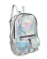 holographic bags hoxis gammaray rainbow hologram backpack bling