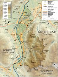 Physical Map Europe by Liechtenstein Map Europe