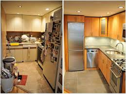 small kitchen reno ideas galley kitchen remodel before and after on a budget