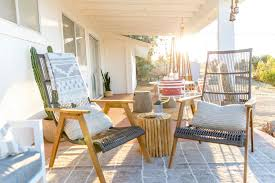 this patio has perfected bohemian outdoor decor domino