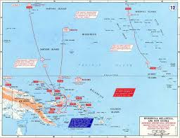 Guadalcanal Map Map Of Wwii Micronesia Melanesia And New Guinea 1941 42