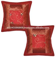 home decor 100 silk brocade cushion cover indian vintage zari