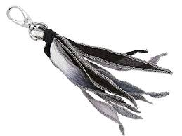 black silk ribbon dyed gray and black silk ribbon tassel with black silver