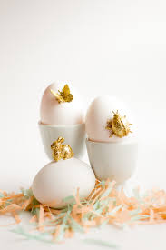gold easter eggs gold animal easter eggs diy flax twine