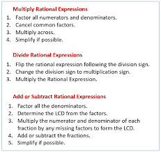 multiply divide add subtract rational expressions solutions