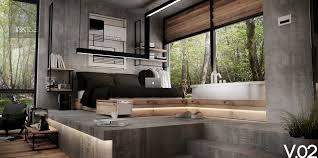 concrete interior design architecture design concrete wall designs for striking bedrooms