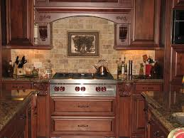 Travertine Tile Kitchen Backsplash Interior Classy Grey Brown Colors Travertine Kitchen