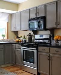 Oak Cabinet Kitchen Makeover - wonderful taupe kitchen by jenna of sas designs in saratoga