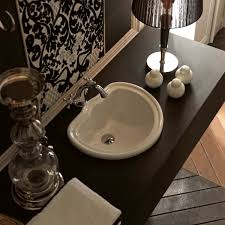 designer high end luxury ceramic drop in bathroom sink modern