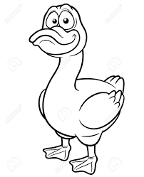 vector illustration of duck cartoon coloring book royalty free