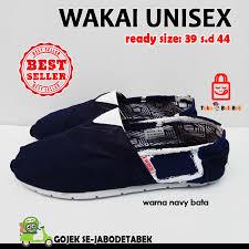 Jual Sepatu Wakai jual sepatu wakai murah pria wanita unisex casual slip on navy