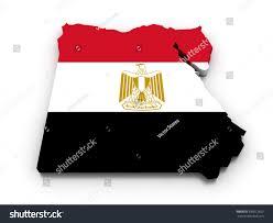 Egypts Flag 3d Render Egyptian Map Colors Flag Stock Illustration 339012659