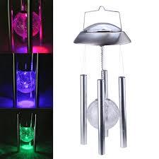 solar powered wind chime light image solar powered wind chime light color changing globe glass ball