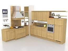Kitchen Design 3d L Shaped Rustic Kitchen Design 3d Model 3ds Max Files Free