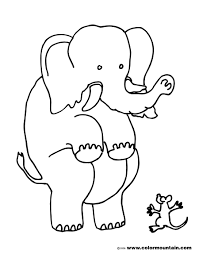 scared elephant coloring picture create a printout or activity