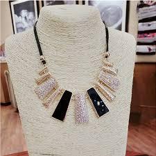 braided rope necklace images F u new fashion design beads enamel bib leather braided rope chain jpg
