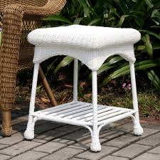 Outdoor Patio End Tables Outdoor Wicker Patio End Table Free Shipping Today Overstock