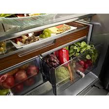 kitchenaid cabinet depth refrigerator krfc704fbs kitchenaid black 36 23 8 cu ft counter depth french