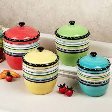 colored kitchen canisters colorful kitchen canisters solid color cream colored inspiration