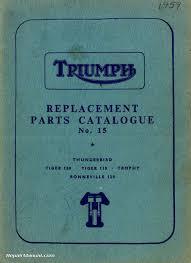 1959 triumph 6t t100 t110 t120 tr6 motorcycle parts manual