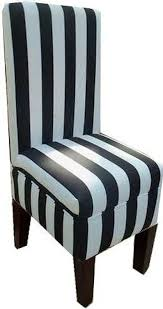 Black And White Dining Room Chairs by Amazon Com Black And White Striped Dining Vanity Chair Chairs