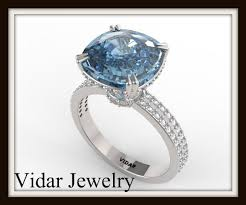 blue topaz engagement rings london blue topaz and diamond engagement ring vidar jewelry