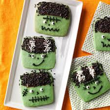 Decorate Halloween Cookies Freaky Frankenstein Cookies Recipe Taste Of Home