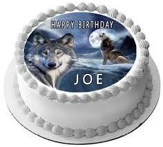 edible prints wolf 2 edible cake topper edible prints on cake epoc creative ideas