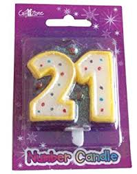 number 21 candle 21st birthday party cake decoration amazon co uk