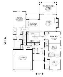 kitchen and bath plus ranch style floor plan single story open