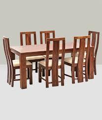 ethnic india art madrid 6 seater sheesham wood dining set with
