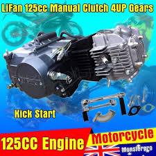 lifan 125cc 4up gears manual clutch engine motor dirt pit bike