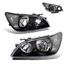 lexus is300 xenon lights amazon com sppc projector headlights black for lexus is 300