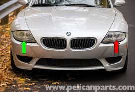 bmw headlights bmw z4 m xenon headlight replacement 2003 2006 pelican parts