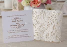 wedding invitations embossed white lace wedding invitation embossed flower wedding invitation