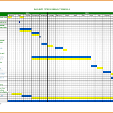 6 project schedule template excel itinerary template sample in