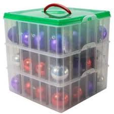 the ornament storage box gives you a convenient and safe