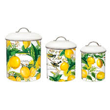 michel design works e7 kitchen baking cooking metal canister set